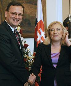 Petr Nečas et Iveta Radičová, photo: CTK