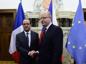 François Hollande y Bohuslav Sobotka, foto: ČTK