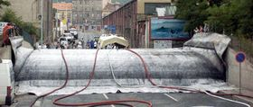 Прагу будет от воды защищать резиновая подушка (Фото: ЧТК)