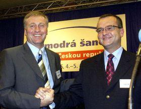 Mirek Topolánek y Miroslav Kalousek (Foto: CTK)