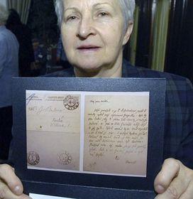 Kopie dopisu T. G. Masaryka, kterým se snažil oobnovu procesu vtzv. Hilsnerově aféře, foto: ČTK