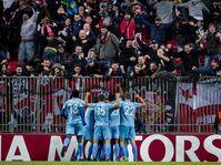 Slavia Praga - FC Copenhague, foto: ČTK/AP/Liselotte Sabroe
