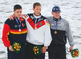 Davidem Calem (España), Andreas Dittmer (Alemania) y Martin Doktor (de la izquierda), foto: CTK