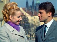 Josef Odložil s manželkou, Věrou Čáslavskou, Praha, 1968, foto: ČTK