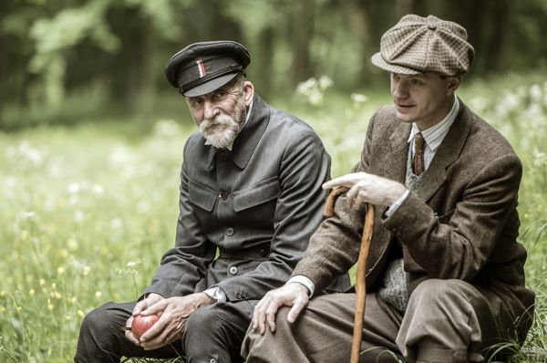 Martin Huba as T.G. Masaryk and Jan Budař as Karel Čapek, photo: Bontonfilm