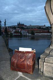 Die Tasche mit dem Manuskript von Vodák (Foto: Archiv von Sandra Brökel)