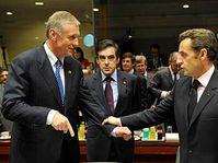 Mirek Topolánek et Nicolas Sarkozy, photo: CTK