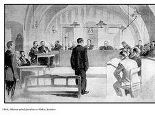Leopold Hilsner devant le tribunal, source: public domain