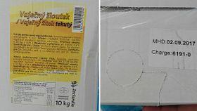 Verpackung mit gekochten und geschälten Eiern von Zeelandia (Foto: Archiv der tschechischen Veterinärverwaltung)