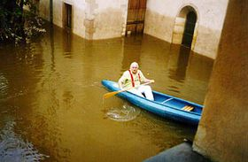 National Gallery's Director Knizak during the Floods