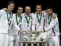 Tomáš Berdych, Radek Štěpánek, Vladimír Šafařík, Lukáš Rosol, Jan Hájek, photo: CTK