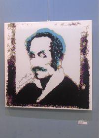 'Bolívar con bigote por Jacobo Blandón, foto: Ana Briceño