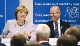 Angela Merkel et Bohuslav Sobotka, photo: ČTK