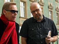 Vladimír Morávek (vpravo) s Václavem Havlem, foto: ČTK