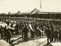 Czech and Slovak soldiers leaving for war in 1915