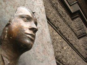 La placa conmemorativa a Jan Palach situada en la Universida Carolina de Praga. Foto: Kristýna Maková.
