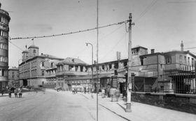 Вокзал Масарика в 1945 г., фото: открытый источник