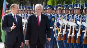 Президент Азербайджана Ильхам Алиев и президент Чешской Республики Милош Земан (Фото: ЧТК)