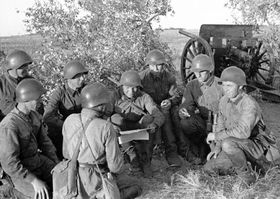 Sovětští vojáci vroce 1938, foto: Viktor Antonovič Tjomin, Wikimedia Commons, Public Domain
