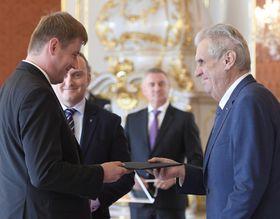 Miloš Zeman jmenoval Tomáše Petříčka ministrem zahraničí, foto: ČTK / Ondřej Deml