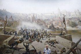'La lucha de los praguenses contra los suecos en el Puente de Carlos en el año 1648', foto: ČTK/Ondřej Deml