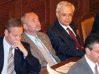 Cyril Svoboda, Petr Mareš a Vladimír Špidla (zleva), foto: ČTK