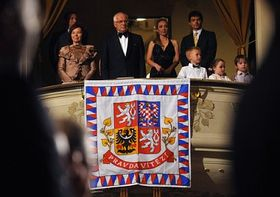 Czech president Václav Klaus with his wife at the festival's opening, photo: CTK