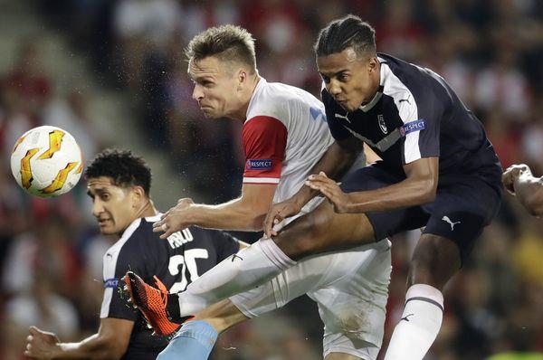 Slavia Prague - Bordeaux, photo: Petr David Josek /AP Photo/ČTK