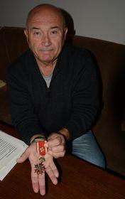 Олдржих Лукш со своим Чехословацким орденом Белого льва из Франции, фото: Эва Туречкова