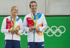 Lucie Hradecká et Radek Štěpánek, photo: ČTK