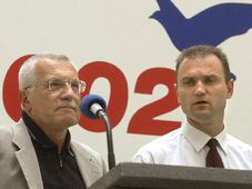 Civic Democrats leader Vaclav Klaus and Ivan Langer, photo: CTK