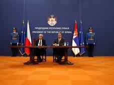 Милош Земан и Александр Вучич, фото: ЧТК/AP Photo/Darko Vojinovic