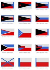 D'autres version du drapeau, photo: Vlastenci, CC-BY SA 3.0 Česko