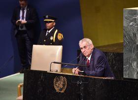 Выступление Милоша Земана на 72-й Генеральной ассамблее ООН, Фото: ЧТК