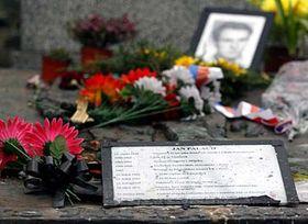 Pietní místo na Olšanských hřbitovech, foto: ČTK