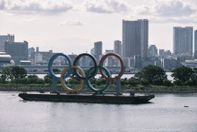 Olympische Ringe in Tokio (Foto: Real Estate Japan, Flickr, CC BY 2.0)