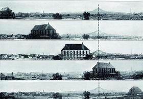 Desplazamiento de la iglesia en Most, foto: archivo de NPÚ Ústí nad Labem