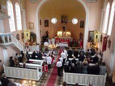 Bohoslužba v kruščickém kostele, foto: Milena Štráfeldová
