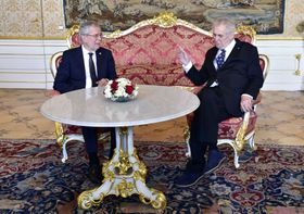 Alexander Van der Bellen and Miloš Zeman, photo: ČTK
