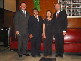 De la izquierda: José Dávila, José Rodríguez del Toro, Elza Fujimoto y Radko Tichavský (Foto: Autora)