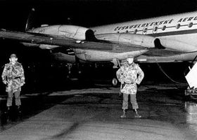 The hijacked plane CSA Iljusin 18 on the file photo from May 10, 1978, photo: CTK