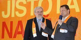 Jiří Havel y Jiří Paroubek (derecha), foto: CTK