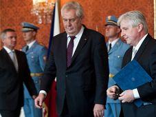 Ernennung des Premiers - jmenování premiéra (Foto: Filip Jandourek, Archiv des Tschechischen Rundfunks)