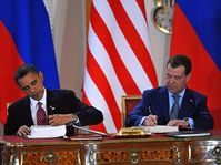 Barack Obama y Dmitri Medvédev, foto: ČTK