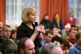 Public meeting at the local town hall in Smilovice, photo: CTK