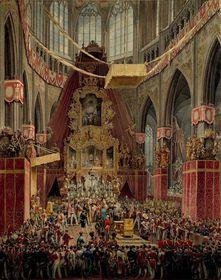 Coronación de Fernando I de Austria en la Catedral de San Vito