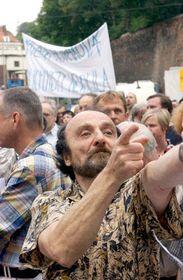 De la manifestación contra Pavel Pribyl (Foto: CTK)