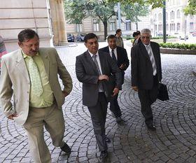 Zleva: Rudolf Polák, Miroslav Malík, Stanislav Daniel aVladimír Galbavý, foto: ČTK