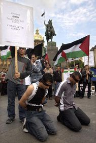 Palestinian protest against the politics of Israel in Gaza and Rafah, photo: CTK