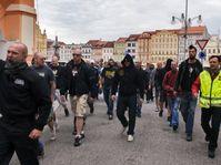 Ultra-right demonstrators in České Budějovice, June 29, 2013, photo: CTK